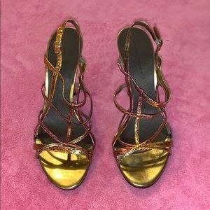 Marc Fisher Bronze Gold Heels size 8